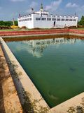 Maya Devi Temple, lugar de nacimiento de Gautam Buddha Budismo fotografía de archivo libre de regalías