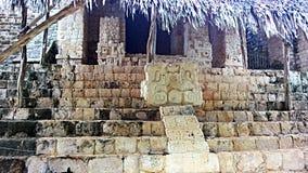 Maya ek balam. A altar on the pyramid of ek balam in mexico Stock Images