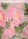 Maya embroidery on dress Royalty Free Stock Photos