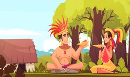 Maya Family Background illustration de vecteur