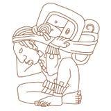 Maya figure. Abstract figure of Maya religion Stock Image