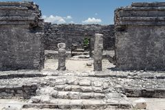 Maya House Tulum Mexico Royalty Free Stock Photo