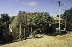 Maya houses stock photography