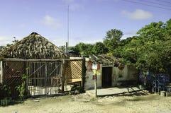 Maya houses in Yucatan stock photography