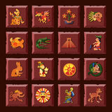 Maya Icons Set Stock Photo