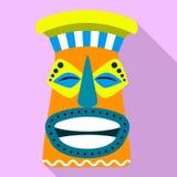 Maya idoolpictogram, vlakke stijl vector illustratie