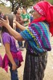 Maya indigenous people. Indigenous people of Maya descent Maya civilization in traditional clothing royalty free stock photo