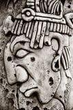 Maya indio tallado en piedra Fotografía de archivo