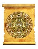 Maya kalender royalty-vrije illustratie
