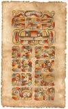 Maya Kalender; 5 mei, 2002 Stock Foto's