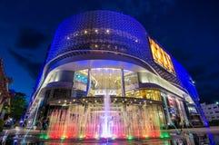 MAYA Mall - Augustus 26 - tonen Kleurrijk Fonteinverstand Royalty-vrije Stock Foto