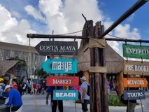 Maya Mexique de côte images stock