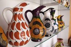 Maya Mexique - pichets colorés lumineux de côte ! photo stock