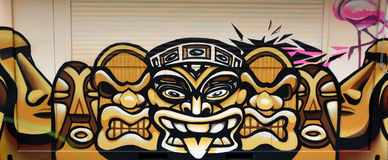 Maya murala Immagini Stock