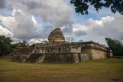 Maya observatory , Chichen-Itza. Mexico Royalty Free Stock Photo