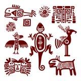 Maya ou sinais tradicionais indianos ilustração stock