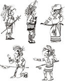 Maya people characters Stock Photo