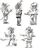 Maya people characters Stock Photo