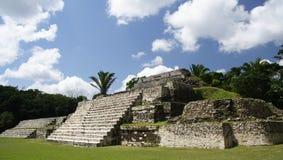 Maya Pyramid. Vintage maya pyramid in Central America royalty free stock photos