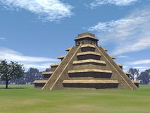 Maya pyramid - 3D render Royalty Free Stock Images