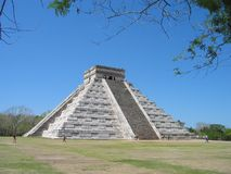 Maya pyramid. Ancient city of Chichen Itza, mexico royalty free stock images