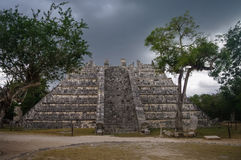 Maya Pyramid, Chichen-Itza. Mexico Stock Photography