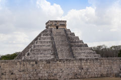 Maya Pyramid, Chichen-Itza, Mexico. Mayan pyramid, Chichen-Itza, Mexico ancient building Royalty Free Stock Photos