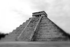 Maya Pyramid of Kukulkan at Chichen Itza Stock Images