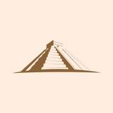 Maya Pyramid , Temple of Kukulkan   Mayan pyramid Royalty Free Stock Photo