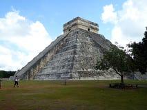 Maya pyramid temple Chichen Itza ruins in Yucatan, Mexico stock photos