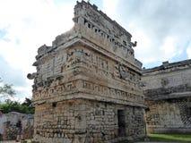 Maya pyramid temple Chichen Itza ruins in Yucatan, Mexico stock photography