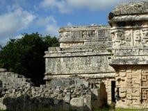 Maya pyramid temple Chichen Itza ruins in Yucatan, Mexico. Maya pyramid temple ruins Chichen Itza in Yucatan, Mexico stock images