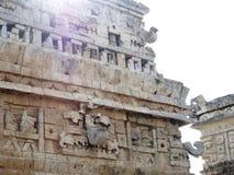 Maya pyramid temple Chichen Itza ruins in Yucatan, Mexico. Maya pyramid temple ruins Chichen Itza in Yucatan, Mexico stock photo