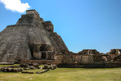 Maya Pyramid, Uxmal Fotos de Stock Royalty Free