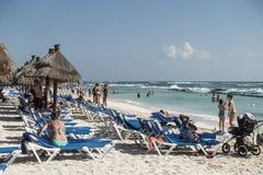 Maya Riviera Beach Stockfotografie