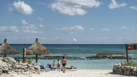 Maya Riviera Beach Stockbilder