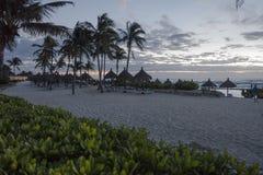 Maya Riviera Beach by night royalty free stock photography