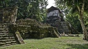 Maya ruïneert eiland van topoxte royalty-vrije stock foto's