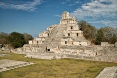 Maya ruïnes van Edzna Stock Afbeelding
