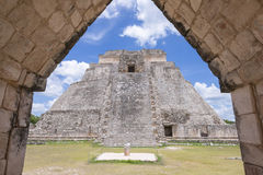 Maya ruïnes van Uxmal Stock Foto's