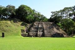 Maya ruïnes in Xunantunich Beliz Royalty-vrije Stock Fotografie