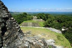 Maya ruïnes in Xunantunich Beliz Royalty-vrije Stock Afbeeldingen