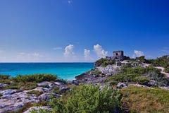 Maya Ruines Royalty-vrije Stock Afbeeldingen