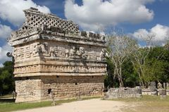 Maya ruins at Chichen Itza, Mexico. Chichen Itza was a large pre-Columbian city built by the Maya people of the Terminal Classic period. The archaeological site royalty free stock photography