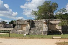 Maya ruins at Chichen Itza, Mexico. Chichen Itza was a large pre-Columbian city built by the Maya people of the Terminal Classic period. The archaeological site stock images