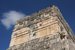Maya ruins at Chichen Itza, Mexico. Chichen Itza was a large pre-Columbian city built by the Maya people of the Terminal Classic period. The archaeological site royalty free stock photo