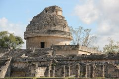 Maya ruins at Chichen Itza, Mexico. Chichen Itza was a large pre-Columbian city built by the Maya people of the Terminal Classic period. The archaeological site stock photos