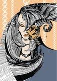Maya and Satires stock photo