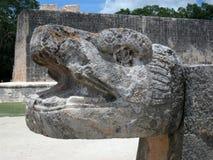 Maya sculpture. A Mayan sculpture depicting a snake Stock Photography