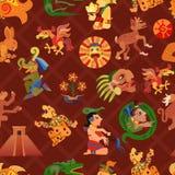 Maya Seamless Pattern Stock Photos